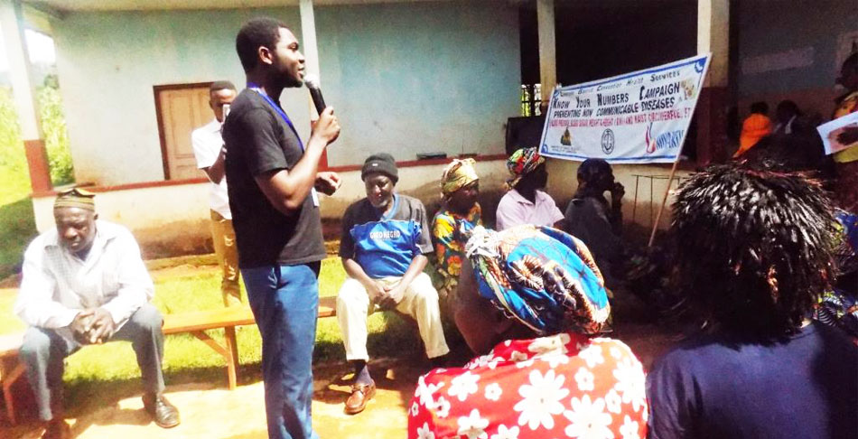 Knowing your number is a great step towards preventing NCDs. Mr. Mbidnzenyuy to Melim community