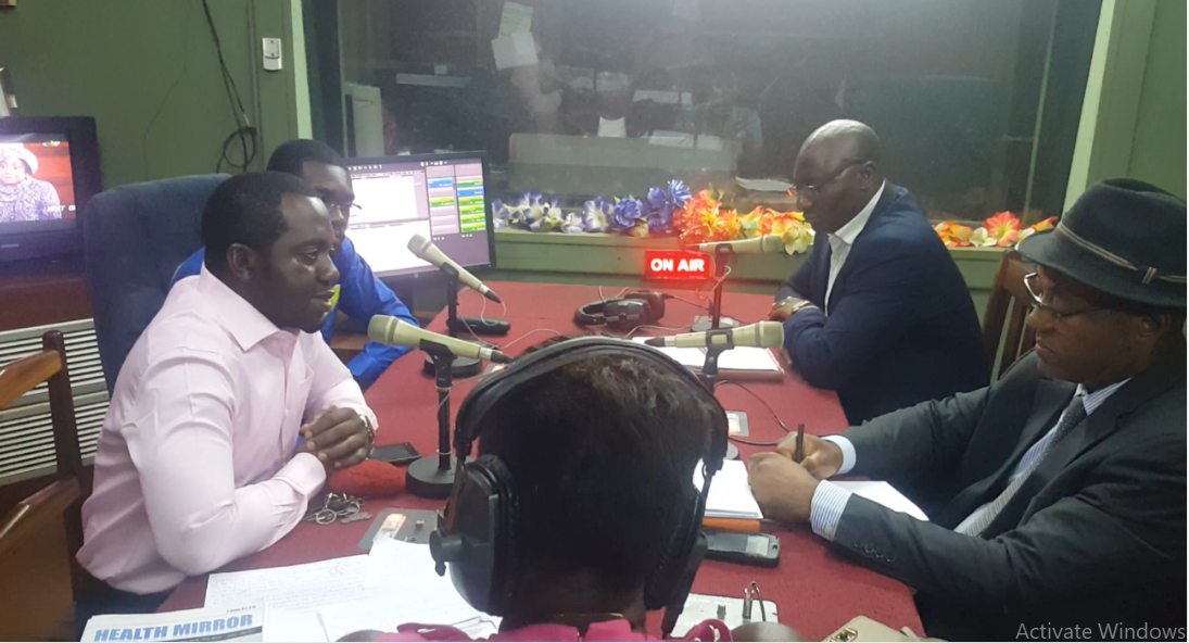 Dr. Epie Njume, Ferdinant Mbiydzenyuy and other public health experts over the airwaves of CRTV Yaounde