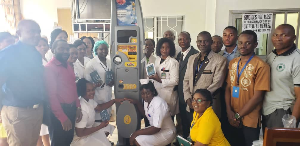 Nkwen Baptist Health Center team gladly receives the Keito machine