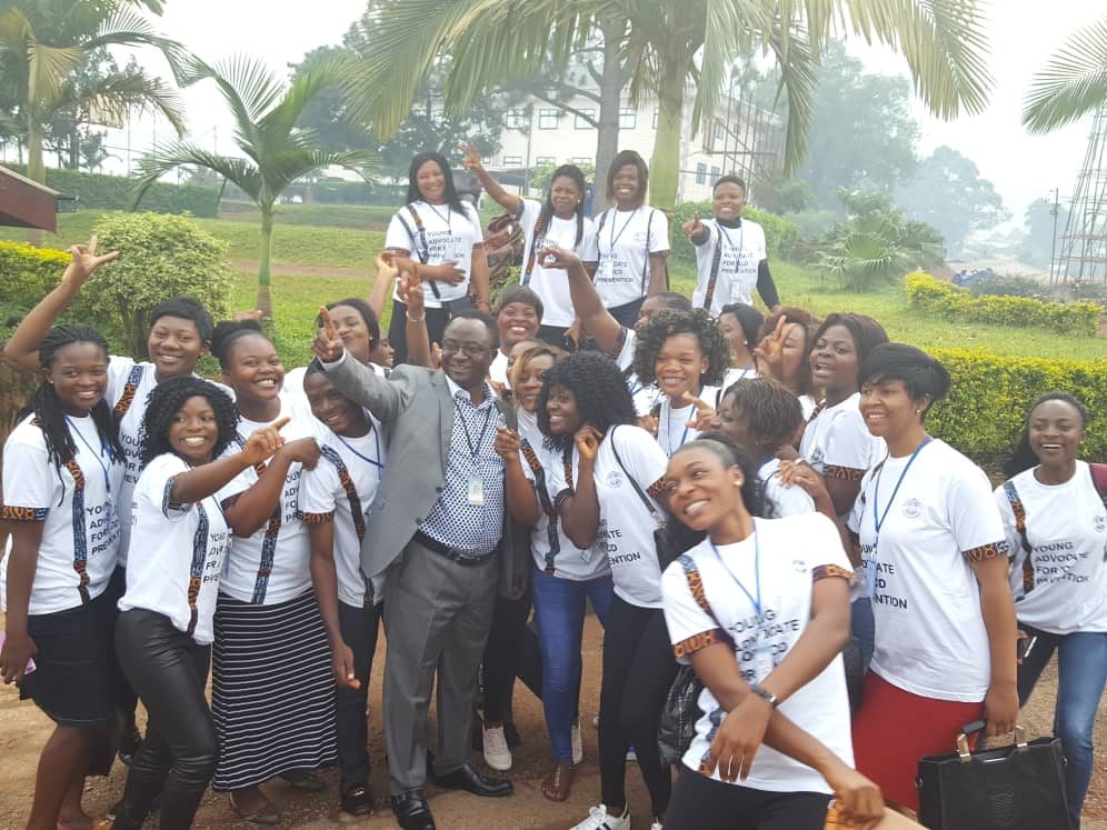 Young Advocates with the Chief of Administration and Finace CBC Health Services