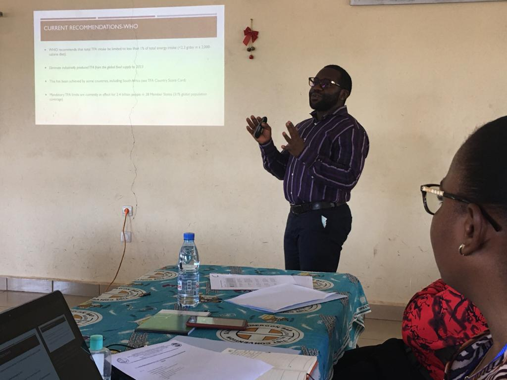 Dr. Epie Njume gives an overview of the project